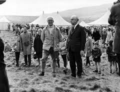 Opening of the Pennine Way on Malham Moor, 24 April 1965, Tom Stephenson and Fred Willey