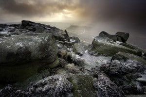 Frosty Higger Tor, Peak District  Photo:  Dave Shandley
