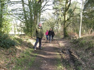 Ancient path at Weston-under-Redcastle, Shropshire, which is being claimed by OSS members