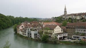Old Bern in the meander of the River Aare