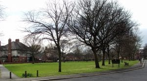 The green at Wallsend, Northumberland, registered by the society. ©copyright Christine Westerback and licensed for reuse under this Creative Commons Licence.