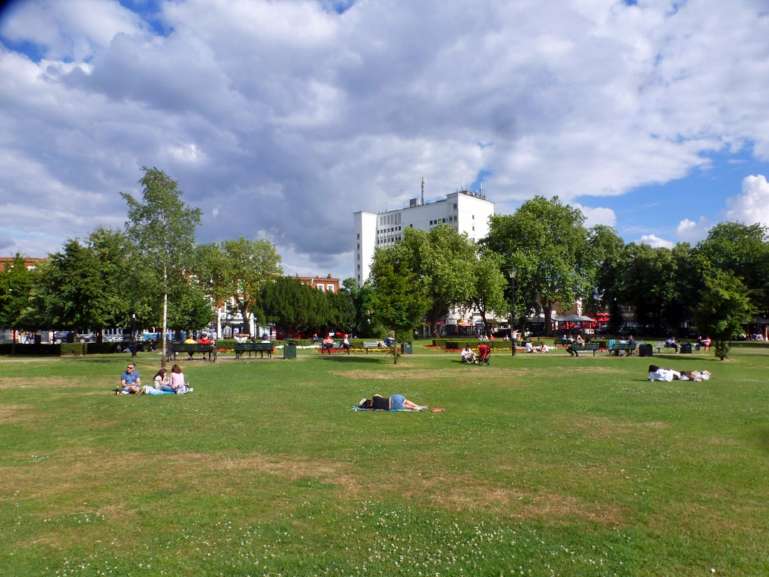 Haven Green common, a vital open space in Ealing, London.