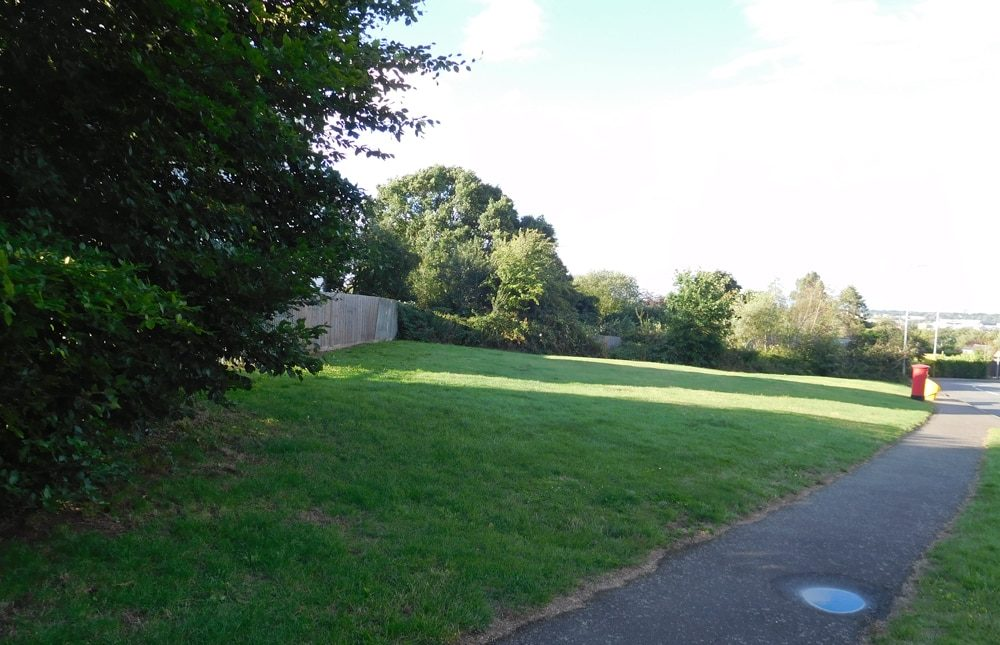 Open space adjoining Lancaster Way in Northampton which was put up for sale
