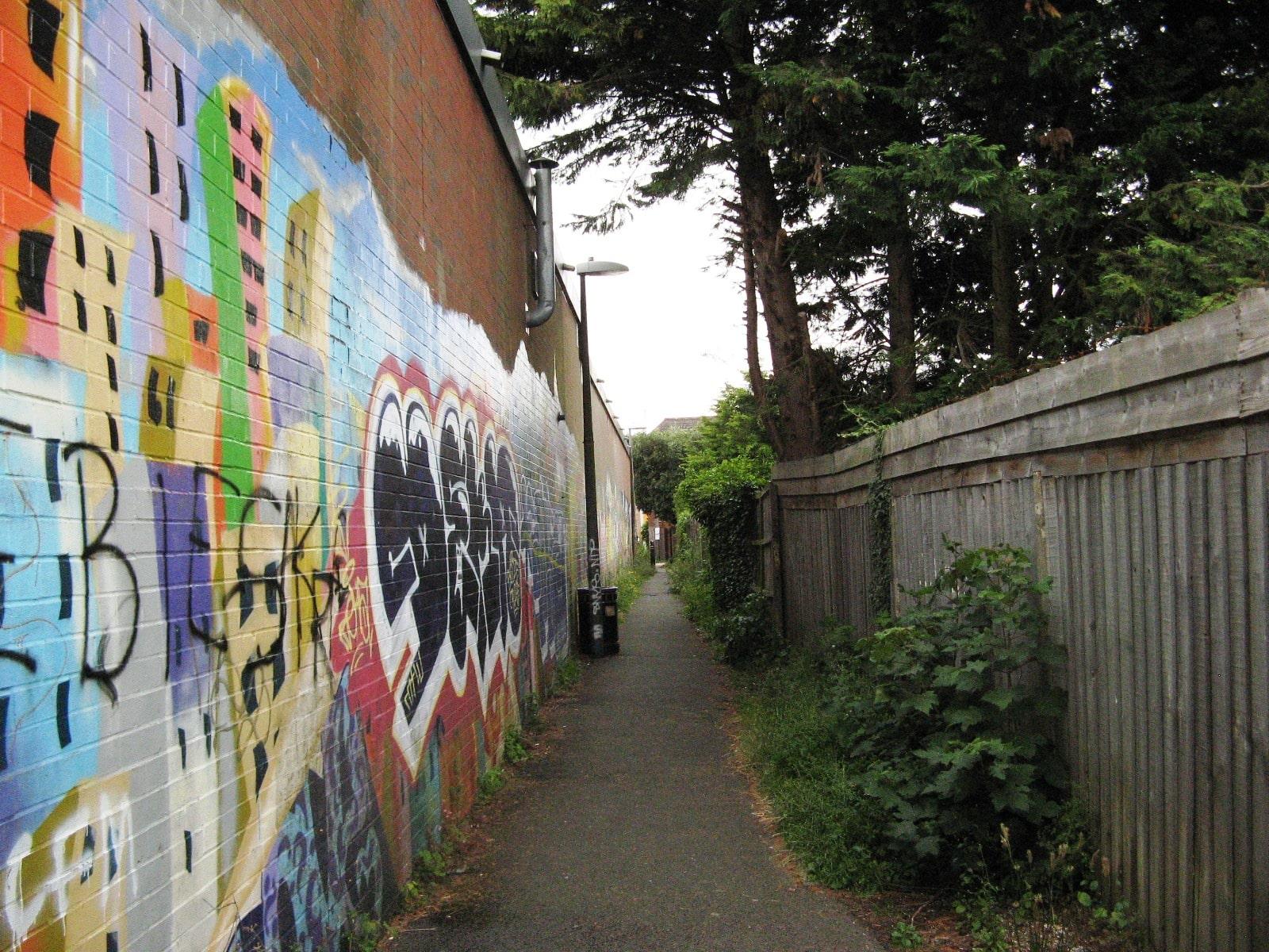 The threatened footpath