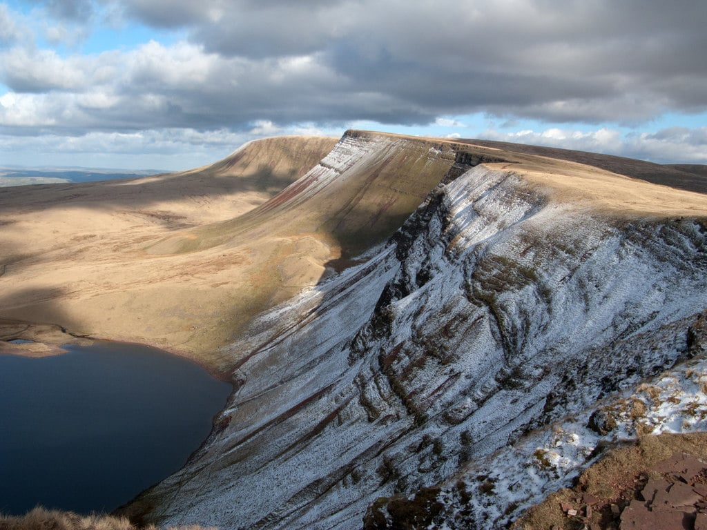 Northern downfall of Black Mountain from Waun Lefrith
