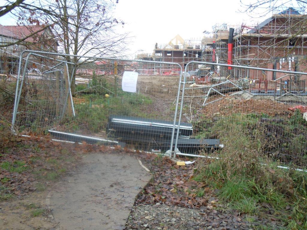 Farndon Fields public bridleway blocked