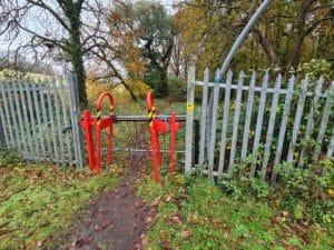 Path access at Miskin, near Llantrisant, Rhondda Cynon Taf