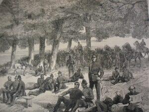 Police on Wanstead Flats July 1871. Credit Essex Field Club