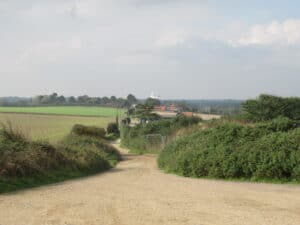 View along the newly recorded route, North Walsham, Norfolk