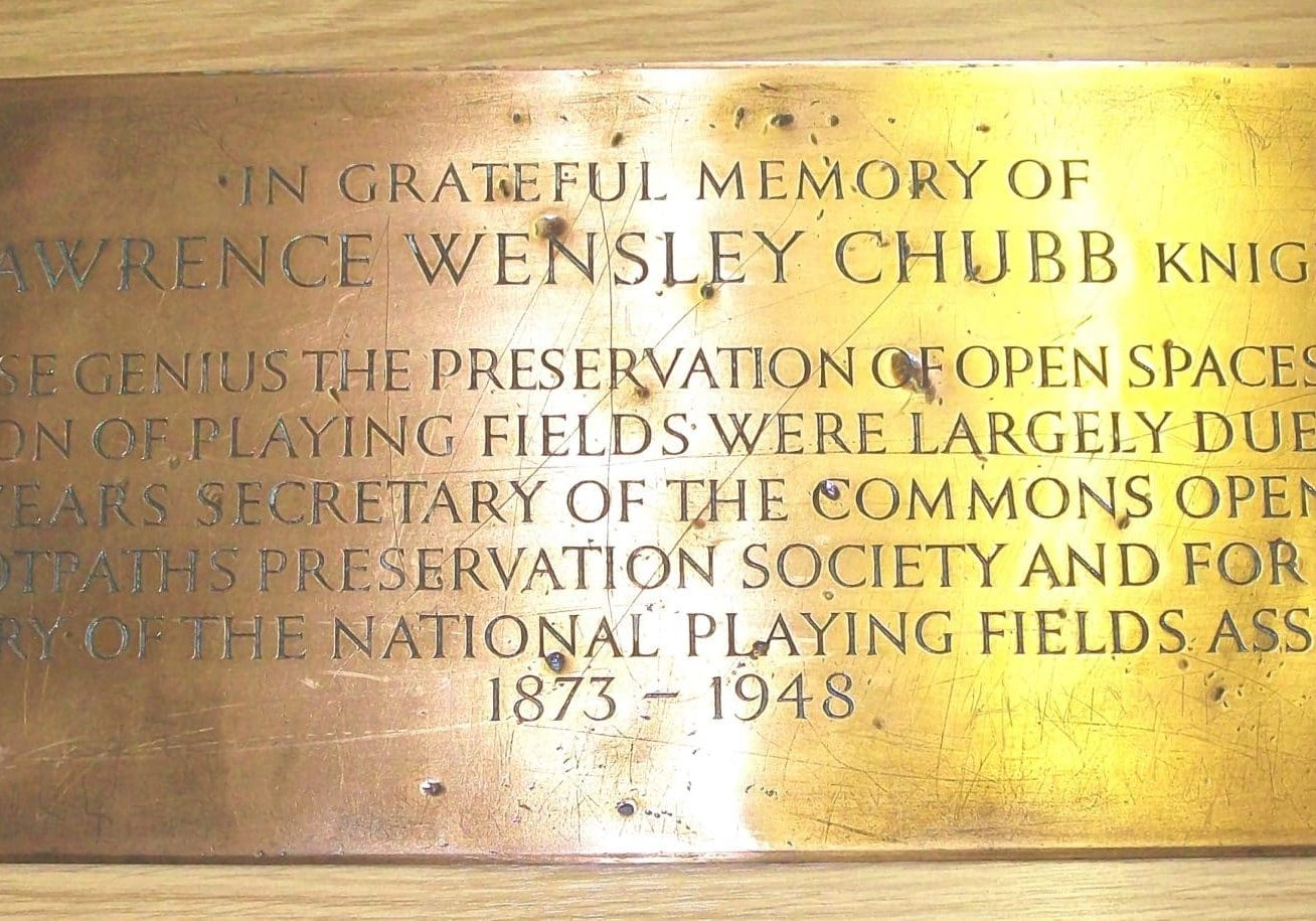 The Lawrence Chubb memorial plaque. Image: Paul Jackson